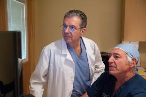 Vahan Kassabian, M.D., F.A.C.S., medical director at Georgia Urology, with Vituro Health Medical Director Stephen Scionti, M.D.